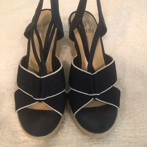 Shoes - Size 6.5 navy with with white trim.